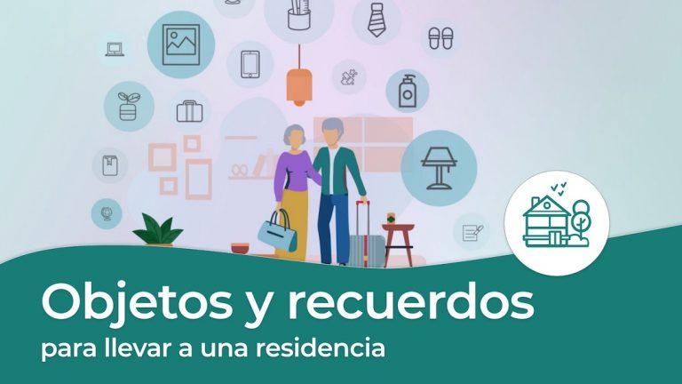 Objetos y recuerdos para llevar a una residencia de adultos mayores