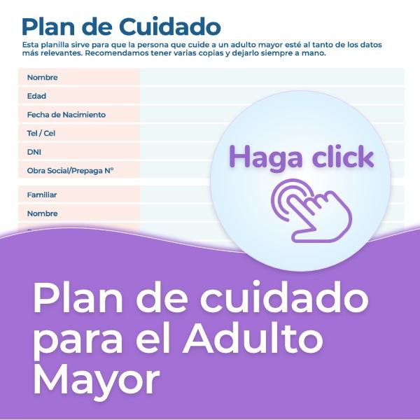 plan de cuidado con personas mayores