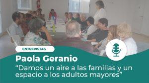 Paola Geranio: «De Centro de Día a Residencia Geriátrica»