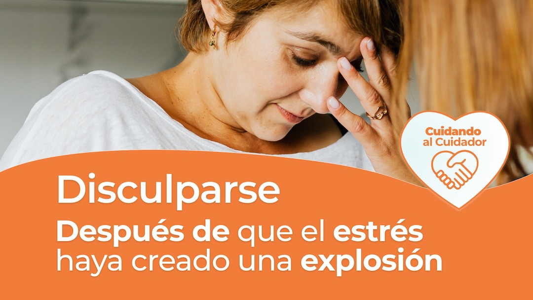 Disculparse después de que el estrés cause la explosion