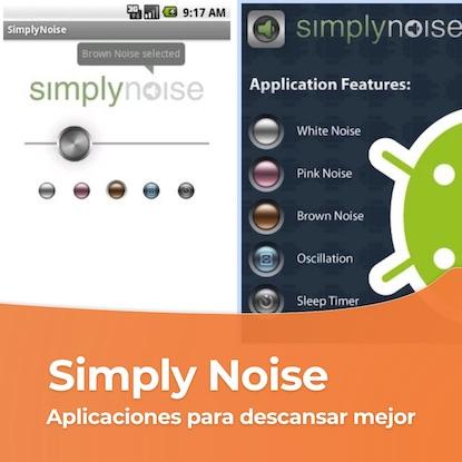 Aplicaciones para abuelos dormir mejor simply noise