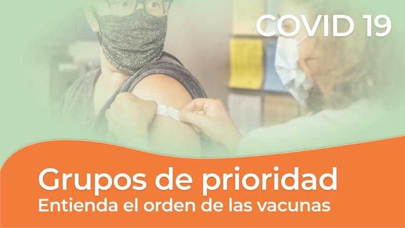 Grupos de prioridad de vacunación para adultos mayores