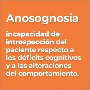 Definicion de Anosognosia en pacientes con Alzheimer