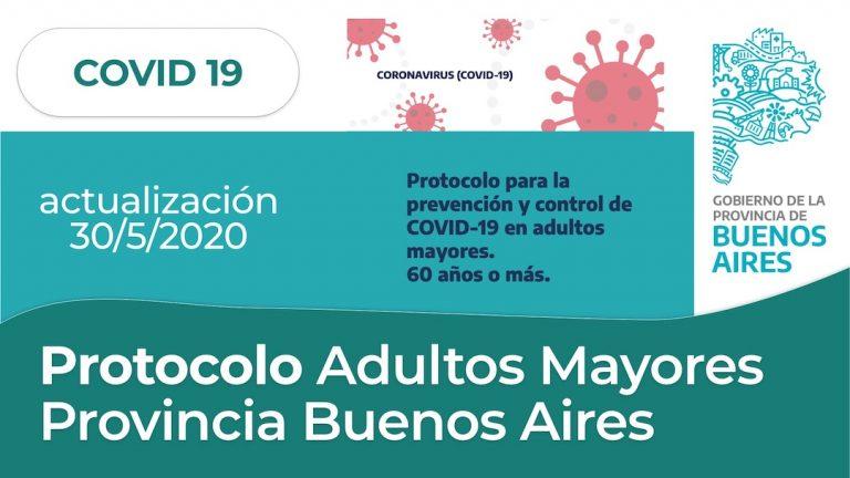 Protocolo para adultos mayores de la Provincia de Buenos Aires (30/5/2020)