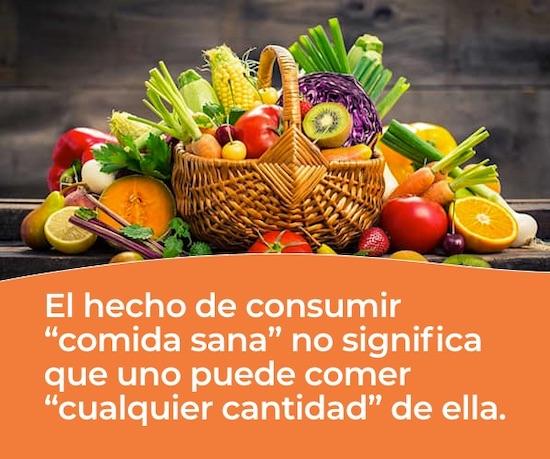 Consumir comida sana en el tratamiento de obesidad del adulto mayor