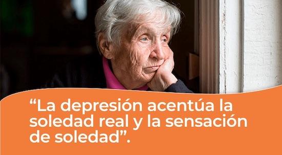 Depresion acentua la soledad real en personas mayores