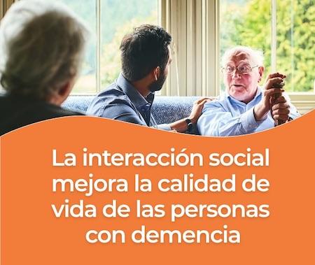 interacción con personas que padecen de la enfermedad de alzheimer