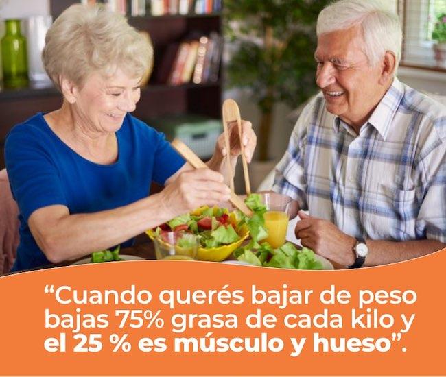 personas mayores con obesidad como bajar kilos